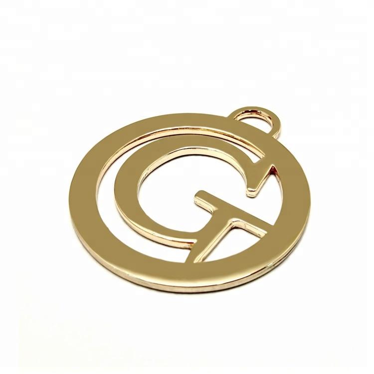 Thiết kế thời trang trang trí cho hành lý phần cứng mạ vàng biểu tượng kim loại thẻ tùy chỉnh nhãn kim loại cho túi xách trong nhà máy giá