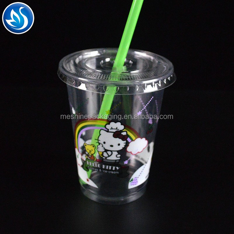 supply clear disposable pet plastic cups