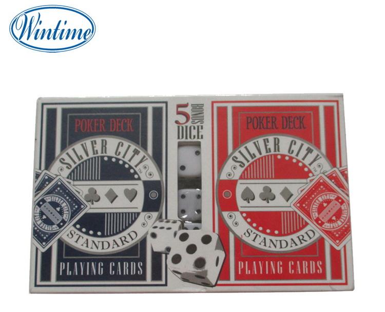 Embalaje de caja de papel de doble cubierta jugando a las cartas