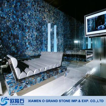 Blue Translucent Resin Panel Onyx Semiprecious Decorative Artificial Stone Slabs Buy Blue Onyx