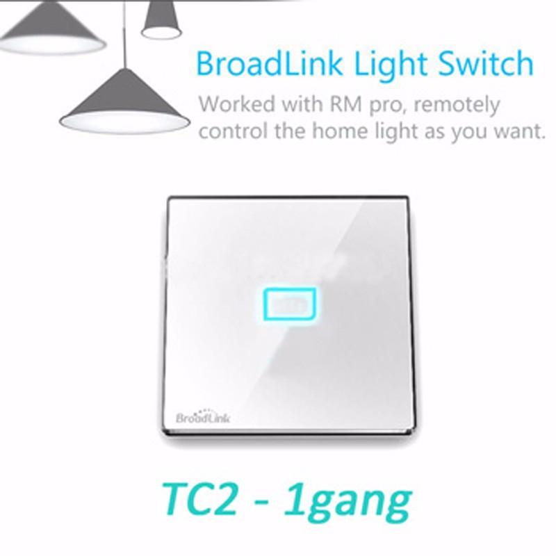 Broadlink RM Pro RM2 Smart Home Universal Switch WiFi Wireless IR RF Remote  Control TC2 Light Wall Touch Switch by phone app