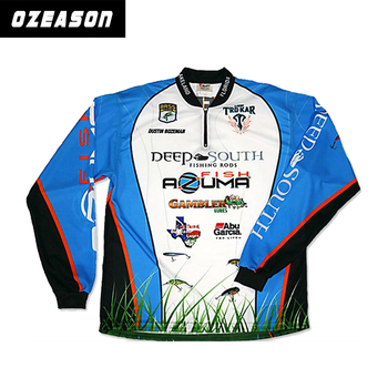 T Shirt Fishing Designs | Hot Sale Long Sleeve New Design Full Sublimated Bass Fishing