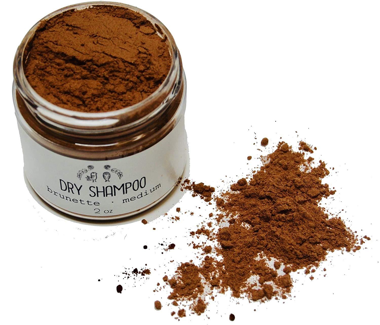 Dry Shampoo // Natural Hair Powder // Brown Medium Brunette