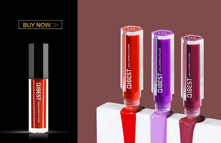 QIBEST Makeup Natural Vegan Langlebig Bio Eigenmarke Matte Pigment Liquid Lipstick