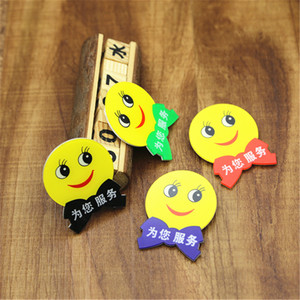 Customized acrylic smiley badges for staff