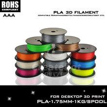 Gray 3d printer pla 1.75mm  3d printer filament 1kg 3d printer filament filamento 1.75 3d such as Createbot ,Makerbot, RepRap,et