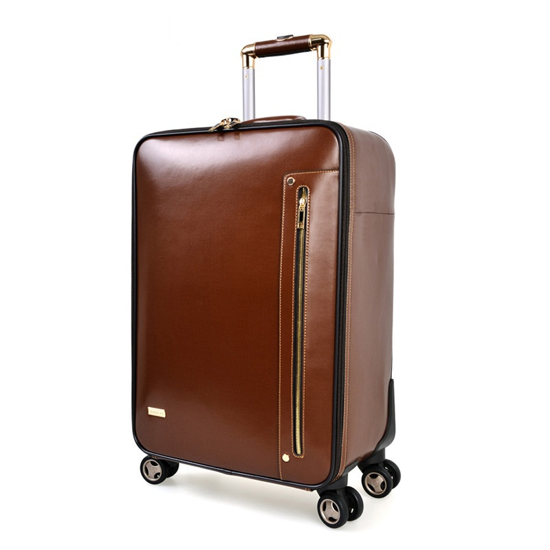 Buy 20inch Genuine Cow Leather Spinner Rolling 20inch Business ...