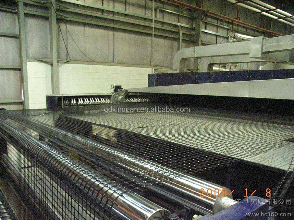 PP Biaxial Geogrid over soft oil with CE certificate making machine
