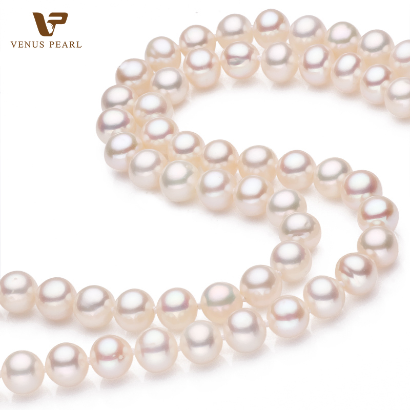 280bb92ef Get Quotations · Natural Freshwater Pearl Necklace with Silver 925 Clasp  for Women Wedding Party Necklace Fine Pearl Jewelry