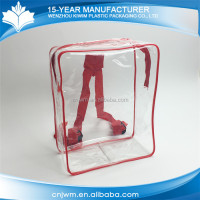 Recyclable Alibaba China zipper transparent pvc backpack