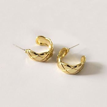 Hot Selling African Jewelry Women Sterling Silver 10K Gold Hoop Earring