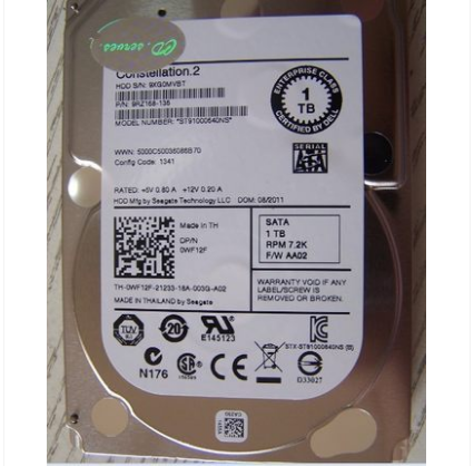HDD SEAGATE ST91000640NS Costellazione ES.2 SATA 6.0 Gb/s 1 TB 7200 RPM 64 MB cache 2.5 internal hard drive