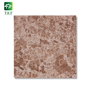 Dhaka Wholesale 600x600 Marble Look Digital Printing Tile Bright Brown Light Emperador Glaze Floor Ceramic Tile
