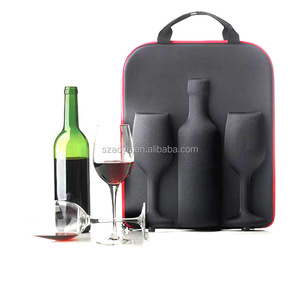 Factory/Manufacturer of 2015 hot sale fashional high qualityRed color bottle single faux case PU leather wine carrier /box/case