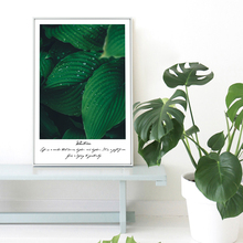 AFFLATUS Nordic Minimalism Green Plant Leaves Wall Art Prints Poster Mordern Wall Pictures Canvas Painting For Living Room Decor