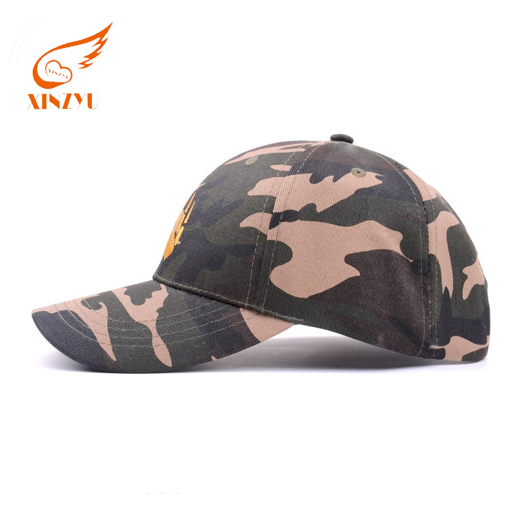 Custom Unique Logo Baseball Hats And Caps Fancy Short Bill Fitted 6 Panel Camo Baseball Cap