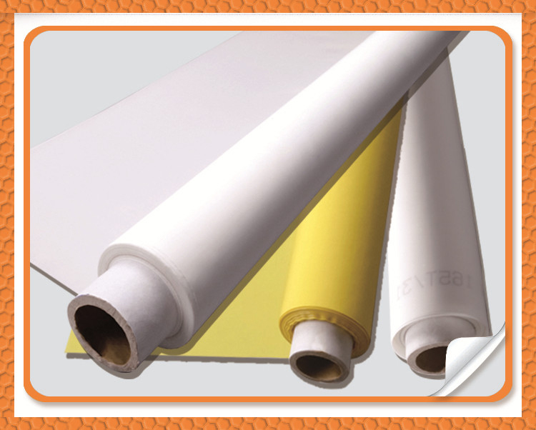 yellow and white color screen printing cloth