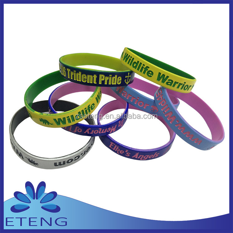 Wholesale Silicone Rubber Wristband Bracelet With Holes