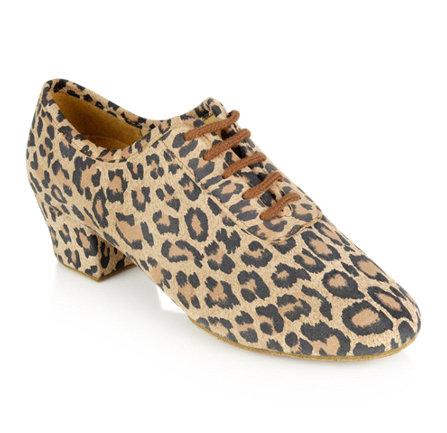 "7060f55bbb5b Get Quotations · Ray Rose 415 Leopard Print Teaching Practice Dance Shoes  (1.5"" Practice Heel)"