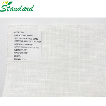 china wholesale plain dyed woven small jacquard printed cotton dobby upper outer garment fabric