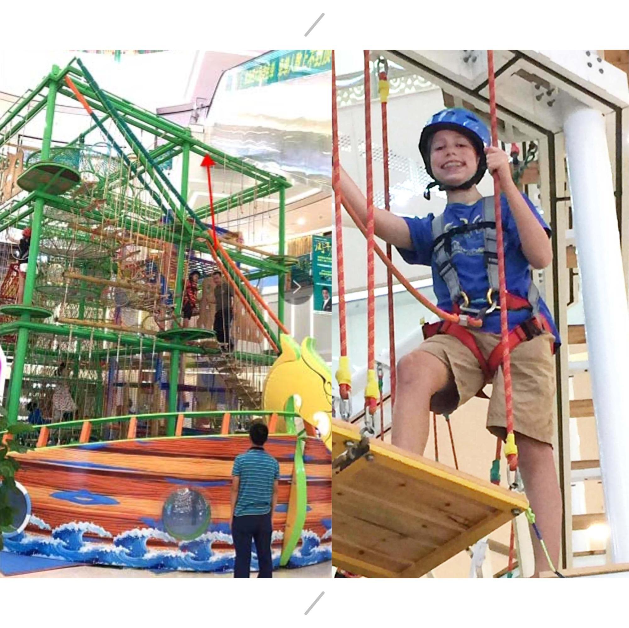 Grande promozione parco giochi corda corso parco giochi al coperto