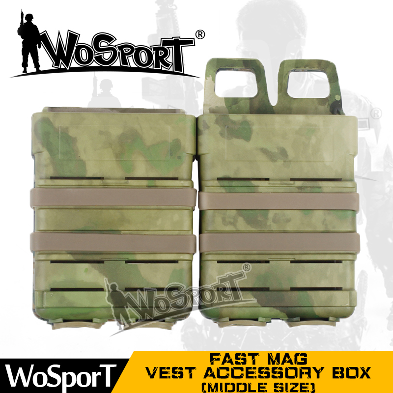 WoSporT fast mag ABS middle size military vest magazine pouch with camo colors