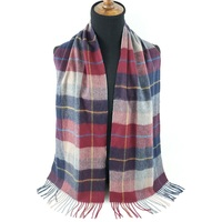 Hot Selling Custom Made Plaid Winter Warm Women Tartan Pure Cashmere Scarves