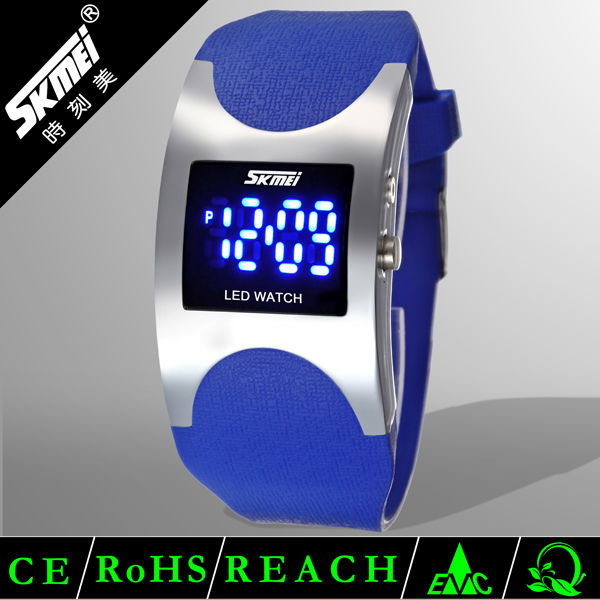 Colorful digital led light up watches for girl