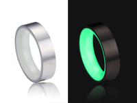2016 new products matte finish titanium wedding band ring black carbon fiber glow ring for man fashion jewelry