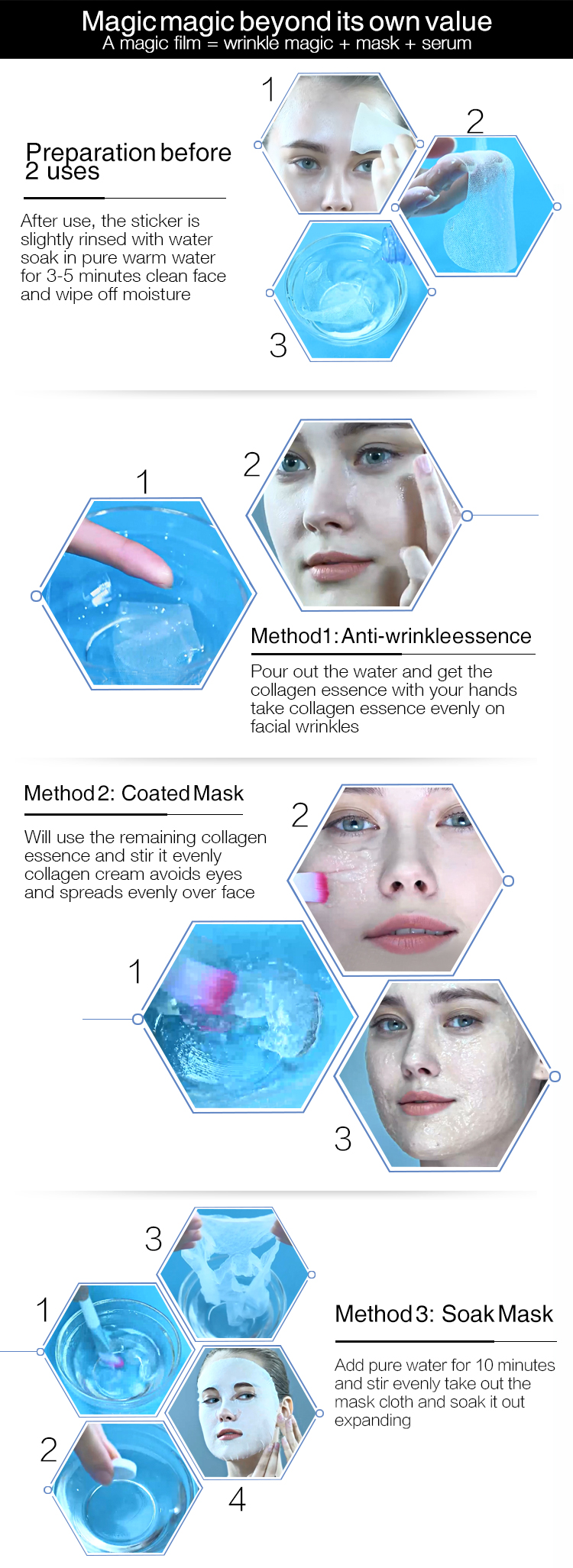 Daily Care face mask sheet skin care cosmetic mask korean