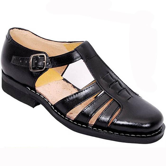 8e8c8dacffd013 Get Quotations · PLUS SIZE 2015 Fashion Classics summer mens high quality  Genuine leather shoes Buckle strap men sandals