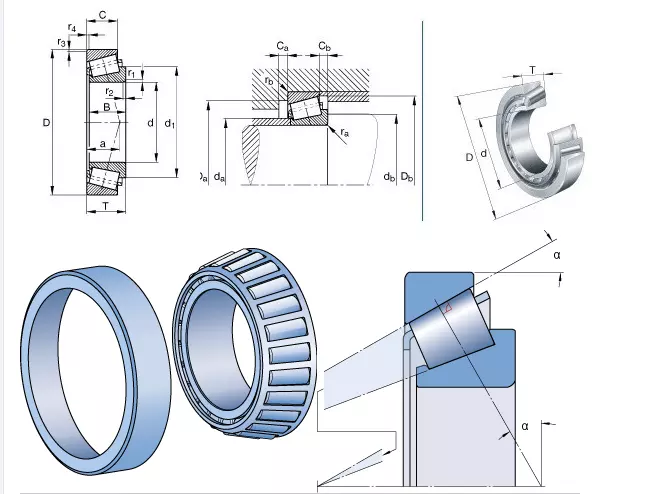 tapered roller bearing drawing