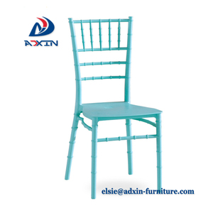 Solid stackable plastic clear chiavari chair for banquet and wedding