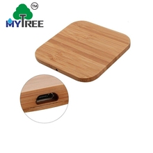 Mytree Wood Qi Cellphone Smartphone Solar Charging Station