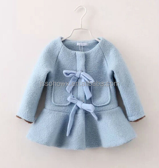 2014 fall baby girl wool blend coat girls wool dress coats View