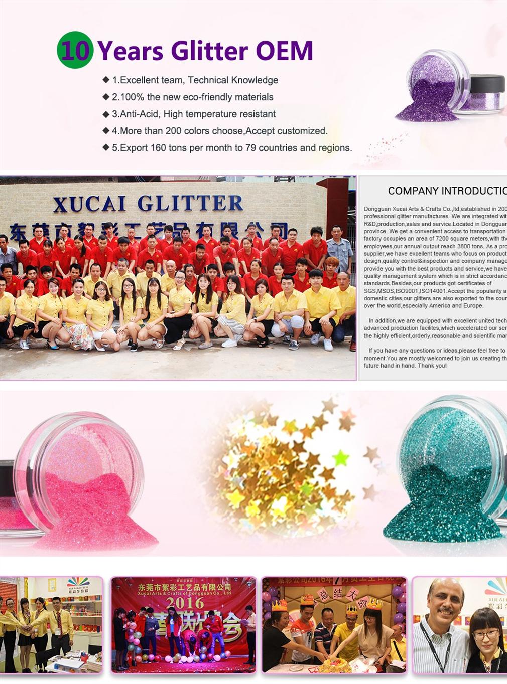 Produttore diretto di regali di massa mestiere perla arcobaleno fluorescente blue glitter di natale e la decorazione del partito neon glitter