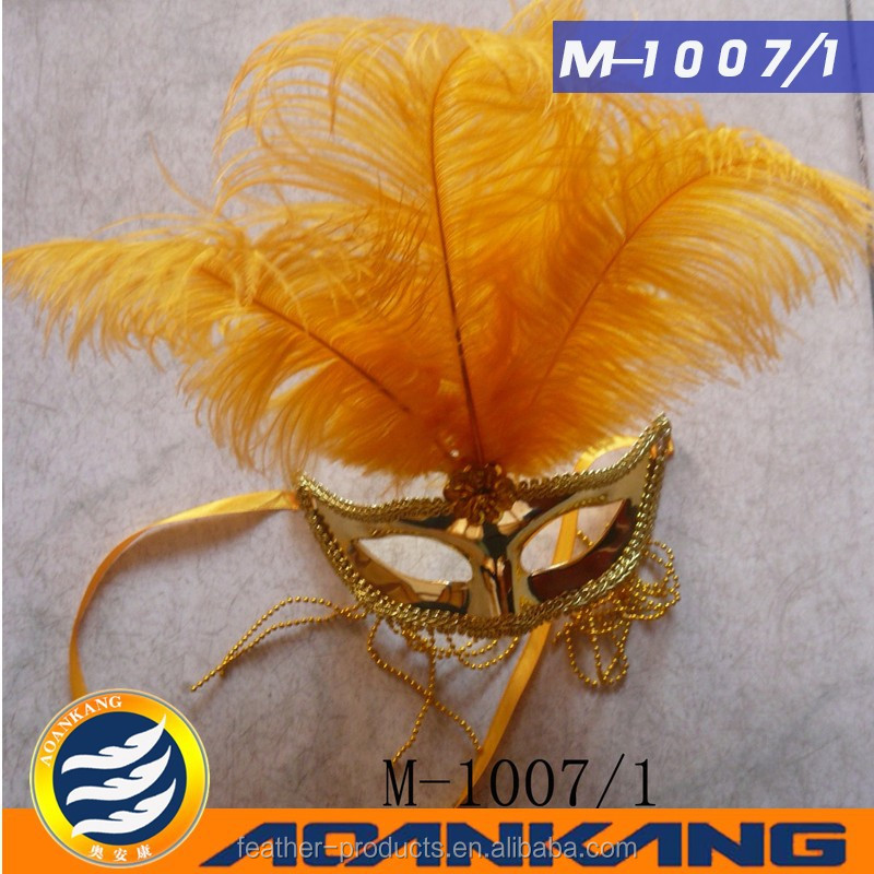 hot sale ostrich feather mask for party-- made in China M-1007-1