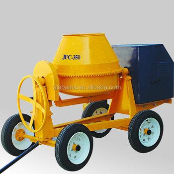 Jfc350 diesel engine concrete mixer mini concrete mixer for Cement mixer motor for sale