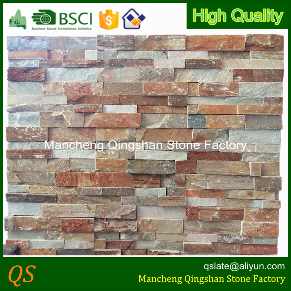 paneles de de la pared exterior de piedra natural