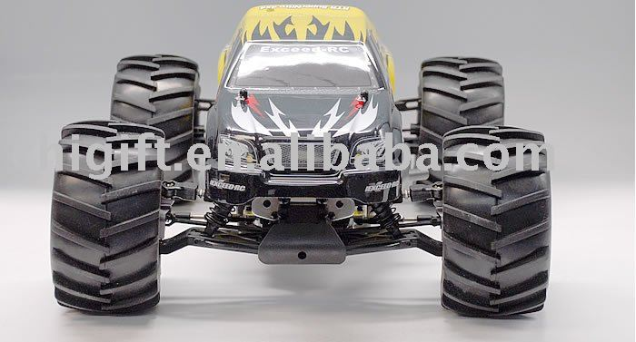 Juguete del rc 1/8o escala nitro monster truck