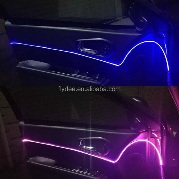coche led fibra optica para decoracion interior del tablero de del coche de iluminacin