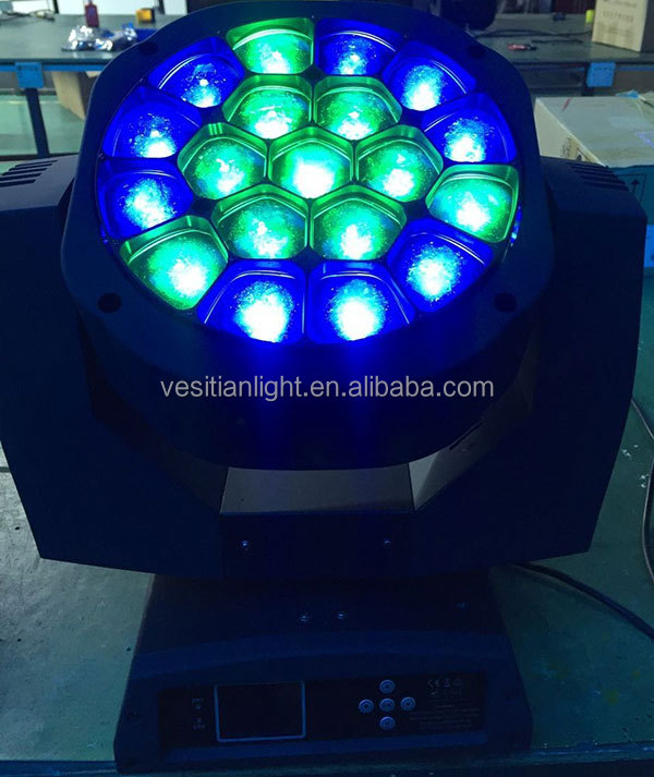 perfect dj lights 19pcs*12W led 4in1 beam wash moving head zoom bee-eye dj lighting