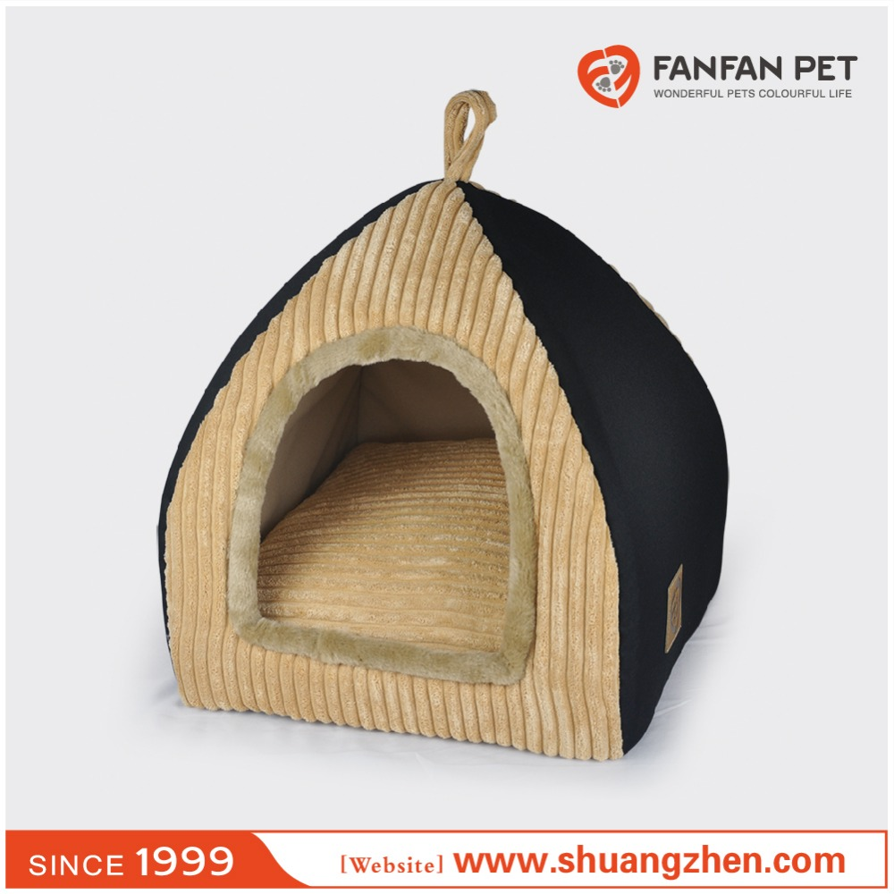 Wholesale Luxury Black Oxford Folding Cat Beds