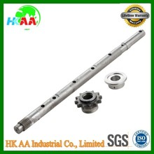 Customized stainless steel heavy duty strong auger shaft & sprocket for industrial TS16949 approved