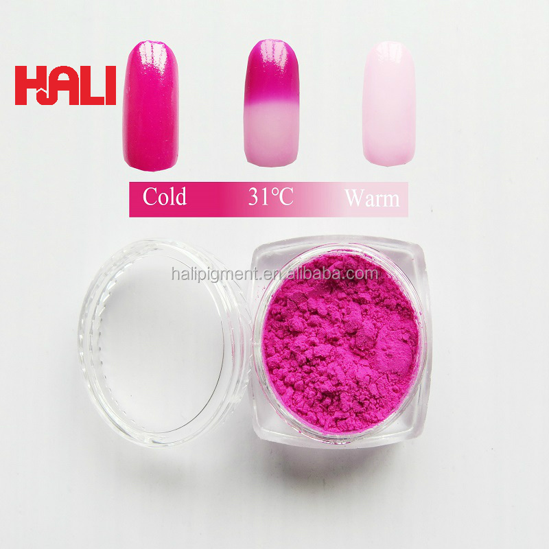 thermochromic pigment powder in cosmetics nail polish nail art powder color change pigment item:HLR-413 rose red to colorless