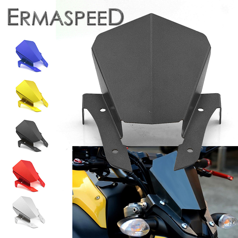 New Motorcycle Windshield Windscreen Motorbike CNC Aluminum Modified Accessories Black Gold Blue for Yamaha MT07 MT09 2014 2015