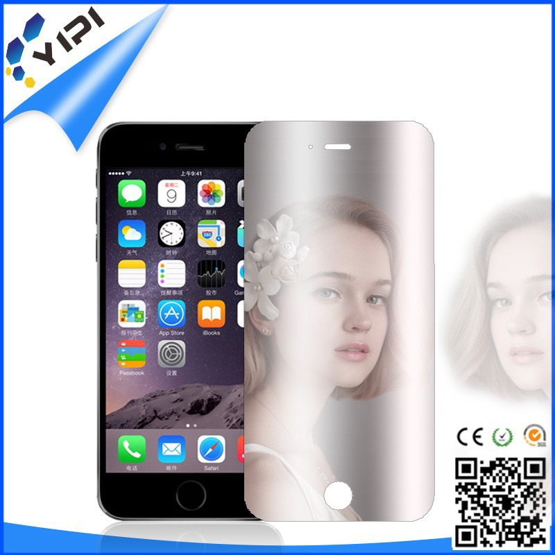 Printed Anti UV 9H Tempered Glass Screen Protector Gold Mirror Tempered Glass Front Back Protector For Iphone6
