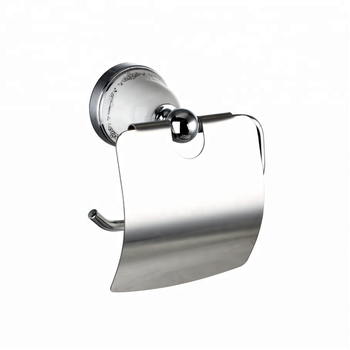 OEM/ODM Ningbo Manufacture Zinc Chrome Bathroom Accessory wall mounting Ceramic Paper toilet holder