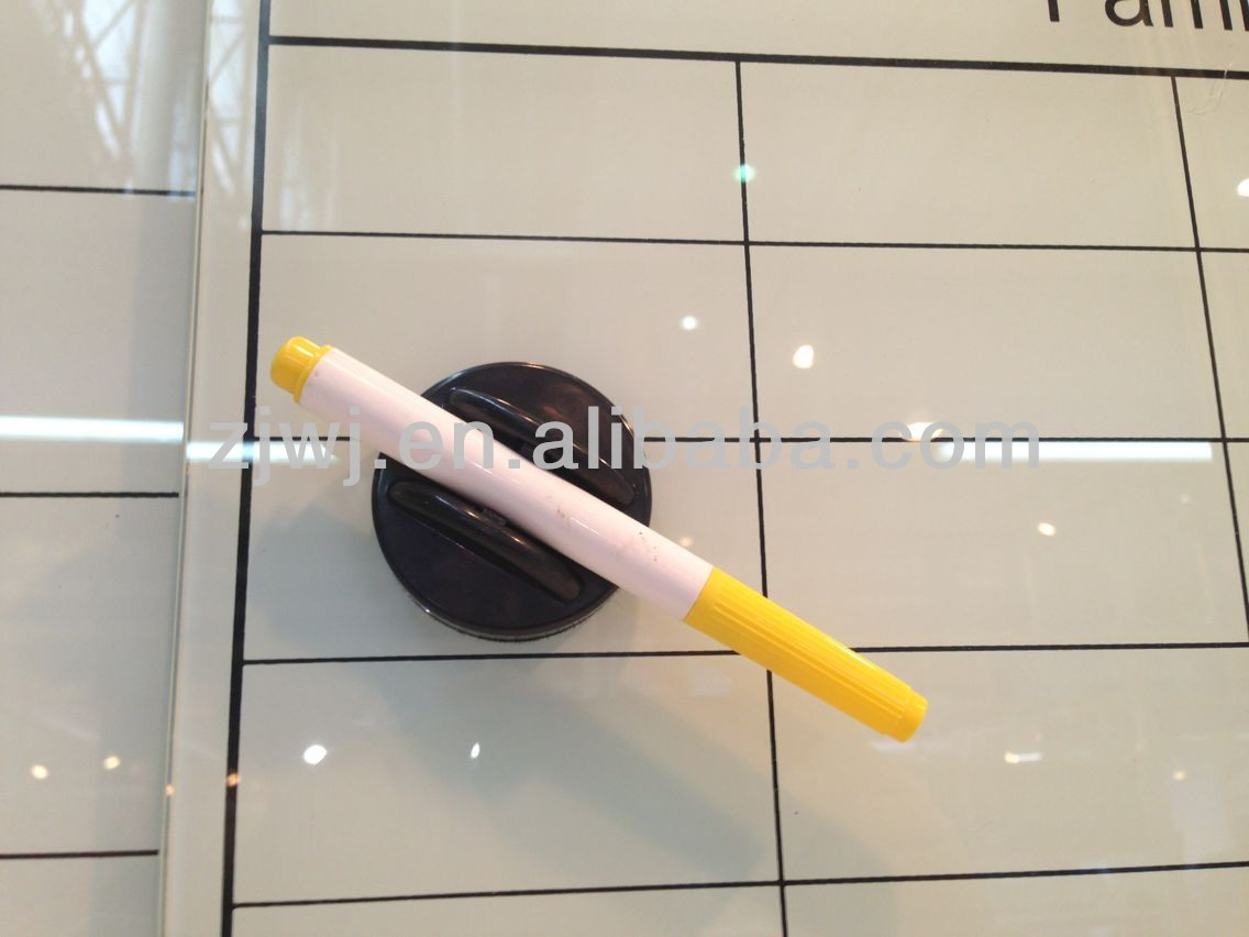 Office decorative Glass magnetic whiteboard with printing lines on board