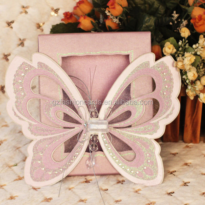 2014 New Butterfly Pop Up Wedding Invitation Card - Buy Pop Up ...